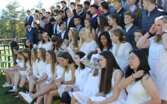 Members of the Senior Class during the 2018 All-School Photo